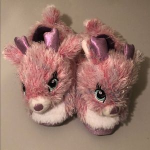 Build-A-Bear workshop pink shiny slippers